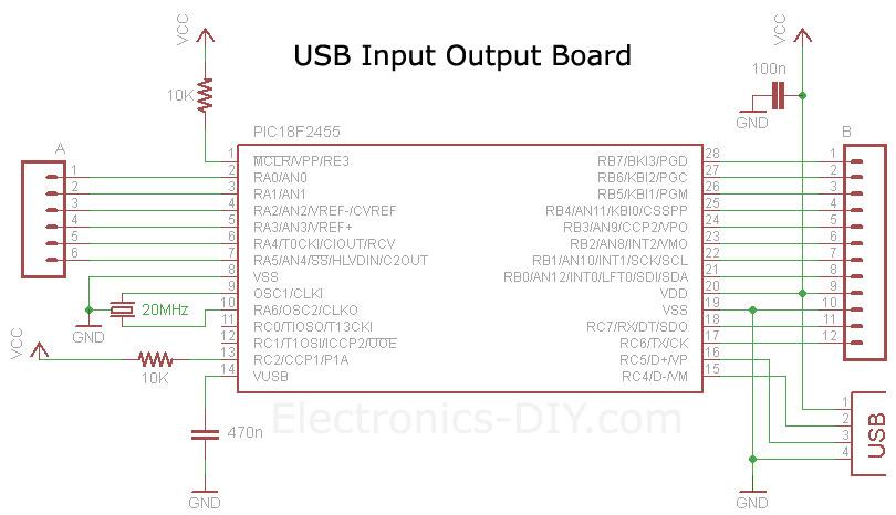 USB Voltmeter Board Schematic.