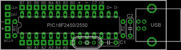 USB IO Board Controller PCB Layout