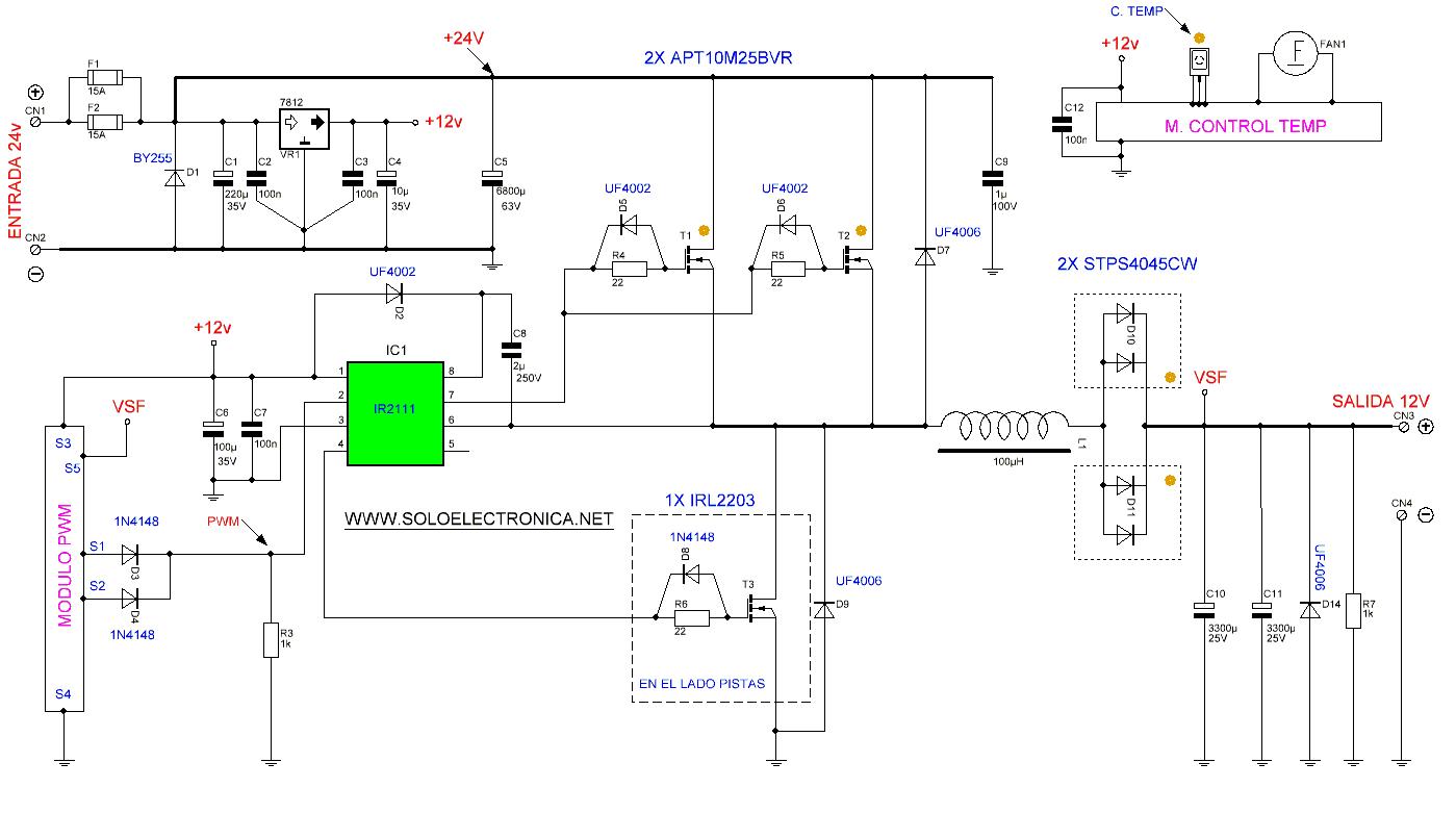24V đến 12V 400W DC Inverter
