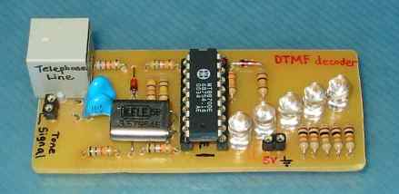 DTMF Decoder Using MT8870