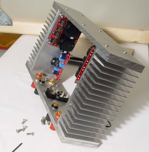 LM3886 Power Amp with DIY Chassis