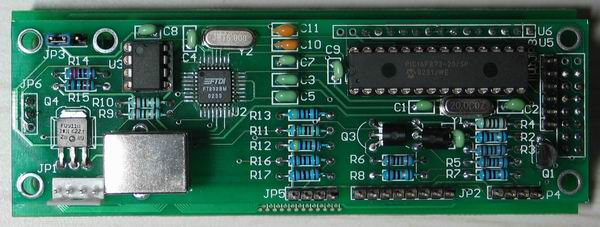 USB - LCD with PIC Microcontroller & FT232