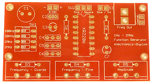 Function Generator Kit Xr2206 on fm radio receiver circuit diagram