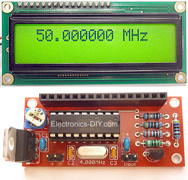 60MHz Frequency Meter / Counter PIC16F628A