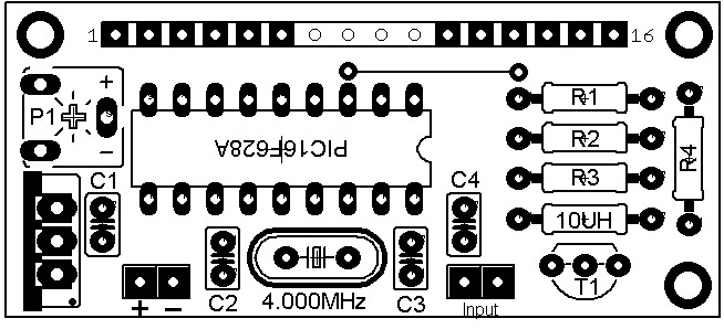 60MHz Frequency Meter / Counter PCB Layout